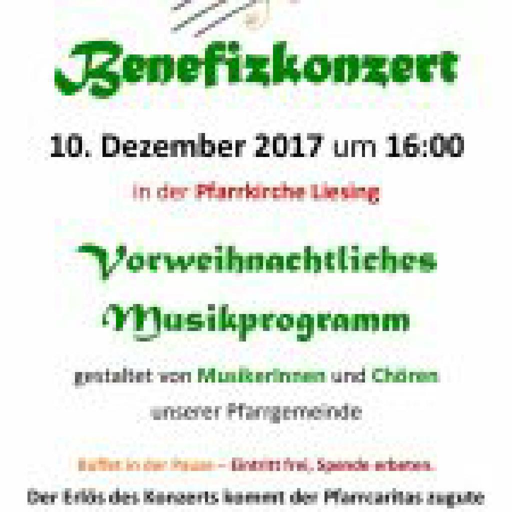 Benefizkonzert am 10. Dezember 2017 um 16:00