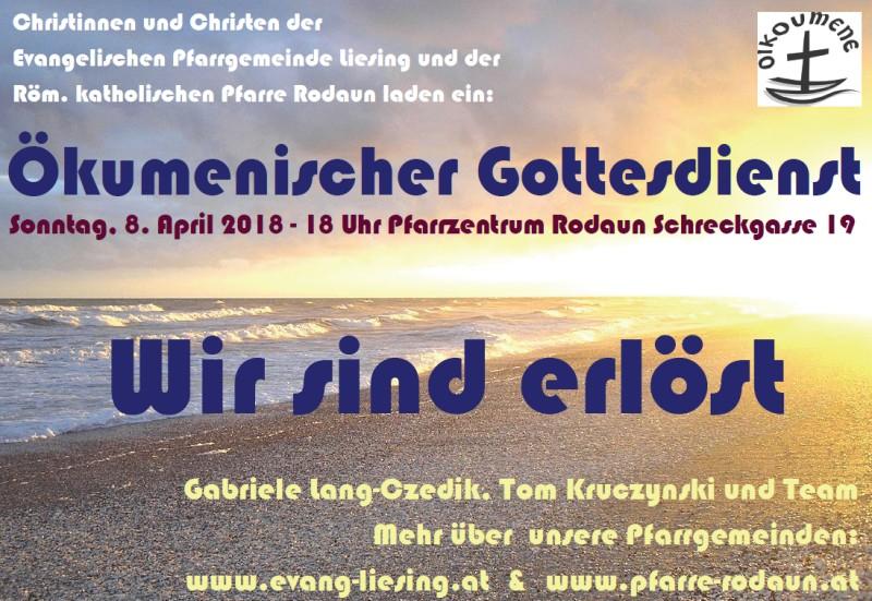 Plakat ökumenischer Gottesdienst