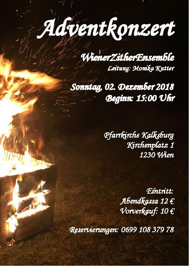 Adventkonzert am 2. Dezember 15.00 Uhr in der Pfarrkirche Kalksburg