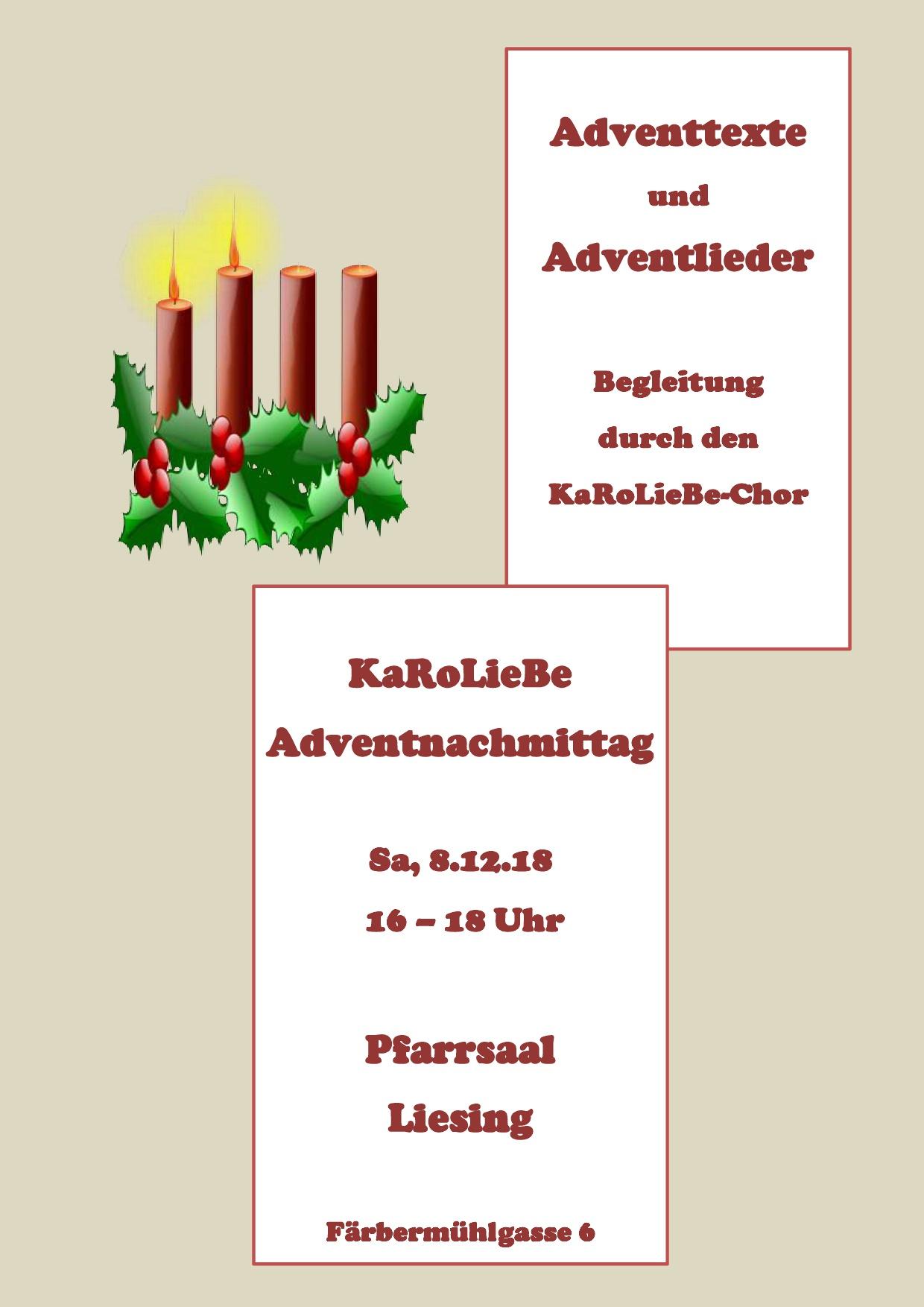 Einladung zum KaRoLieBe-Adventnachmittag am 8. Dezember um 16.00 Uhr