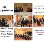 Osterspiel der Kinder am 17. März, 22. März und am 24. März jeweils um 16.30 Uhr