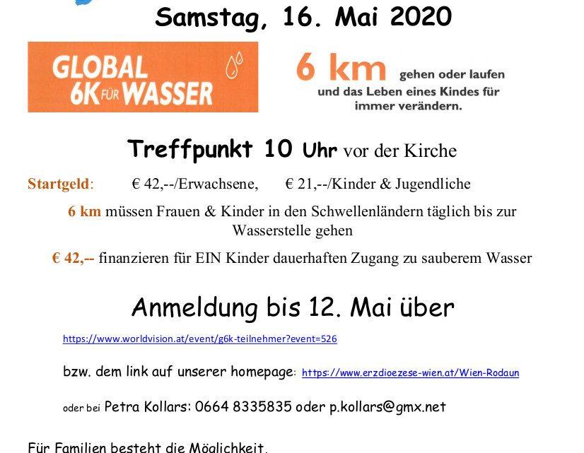 Laufen für Afrika am 16. Mai in der Pfarre Rodaun!