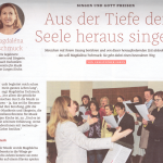 """Aus der Tiefe der Seele heraus singen - ein Beitrag in der letzten Ausgabe von """"Der Sonntag"""""""