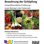 Umweltfreundliche Ernährung - unser Beitrag in der Fastenzeit